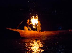 長良川鵜飼の風景の写真素材 [FYI03116507]