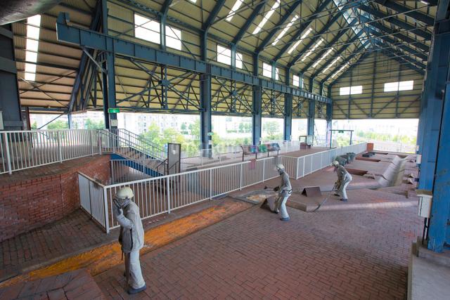 東田第一高炉跡の鋳床の写真素材 [FYI03116632]
