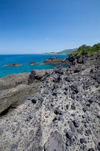 袰月海岸に面した鋳釜崎の風景の写真素材 [FYI03116804]