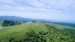 上空から眺める夏の寒風山回転展望台の写真素材 [FYI03117373]