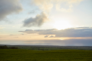 ハワイ島の夕景の写真素材 [FYI03117712]