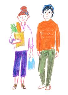 若い夫婦のイラスト素材 [FYI03117944]