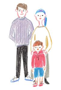 3人家族のイラスト素材 [FYI03117945]
