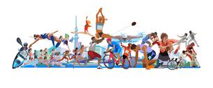オリンピック施設と街とスポーツのイラスト素材 [FYI03118146]