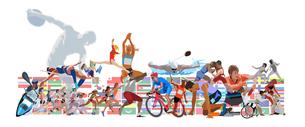 オリンピック施設とスポーツのイラスト素材 [FYI03118148]