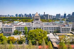 衆議院第二議員会館から見下ろした国会議事堂の写真素材 [FYI03118168]