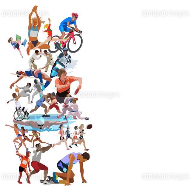 オリンピックスポーツ 縦位置のイラスト素材 [FYI03118171]