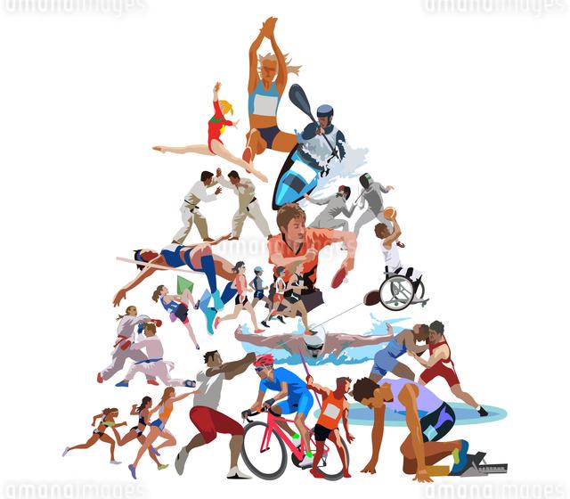 オリンピックスポーツ 三角形のイラスト素材 [FYI03118184]