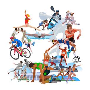 体操オリンピック施設とスポーツのイラスト素材 [FYI03118186]
