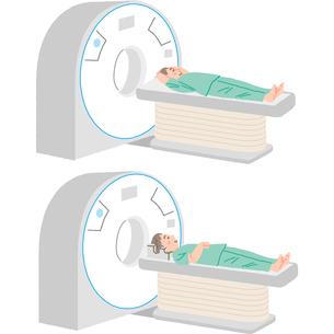 CT検査を受ける患者のイラスト素材 [FYI03118903]