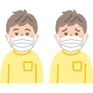 マスクをする子供のイラスト素材 [FYI03118914]