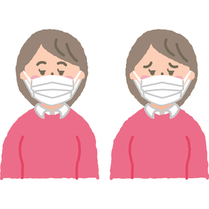マスクをする女性のイラスト素材 [FYI03118915]