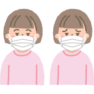 マスクをする子供のイラスト素材 [FYI03118918]