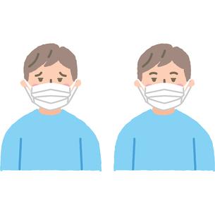 マスクをする男性のイラスト素材 [FYI03118922]
