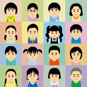 私服の小学生集合のイラストのイラスト素材 [FYI03118981]