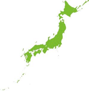 県境で区切った日本地図のイラスト素材 [FYI03119197]