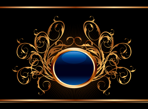 Illustration golden ornate background for design - vectorのイラスト素材 [FYI03119370]