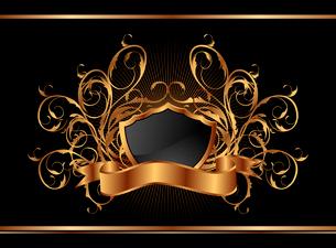 Illustration golden ornate frame for design - vectorのイラスト素材 [FYI03119373]