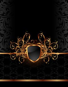 Illustration golden ornate frame for design - vectorのイラスト素材 [FYI03119377]
