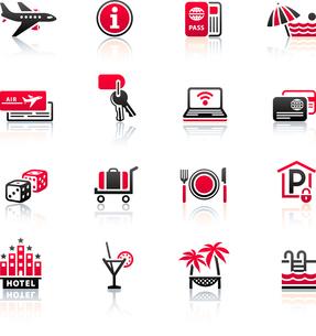 Recreation, Travel & Vacation, icons setのイラスト素材 [FYI03119401]