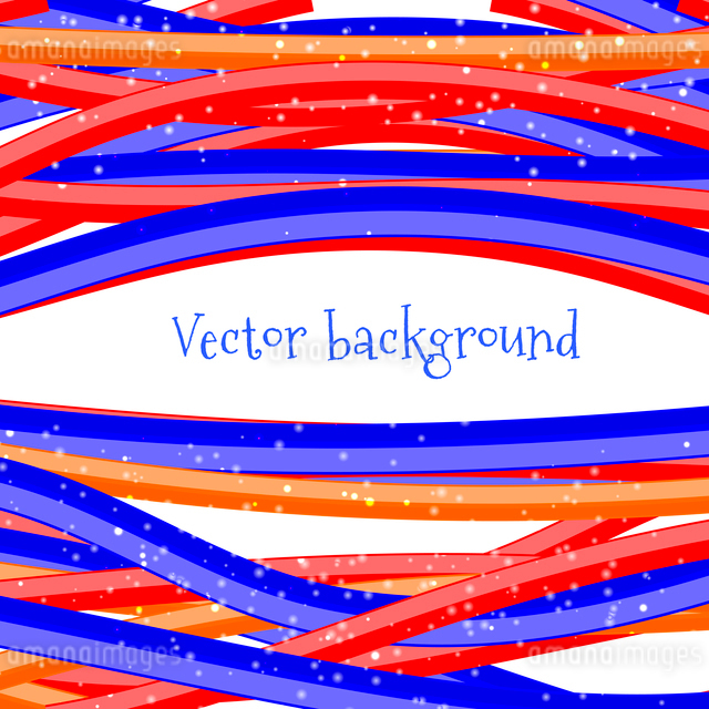 Abstract background. Bright wire on a white backgroundのイラスト素材 [FYI03119413]
