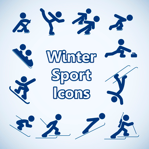Winter sports icons set isolated vector illustrationのイラスト素材 [FYI03119450]
