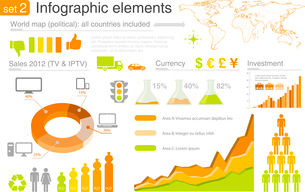 Infographics elements with icons For business and finance reports, statistics, diagram graphのイラスト素材 [FYI03119456]