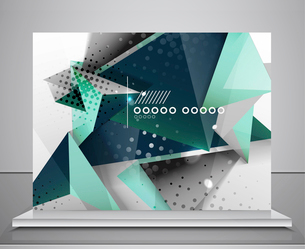 Abstract geometric shape background. For business / technology / educationのイラスト素材 [FYI03119470]