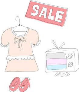 The illustration of shopping in department storeのイラスト素材 [FYI03119524]