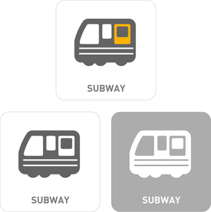 Subway Pictogram Iconsのイラスト素材 [FYI03119530]