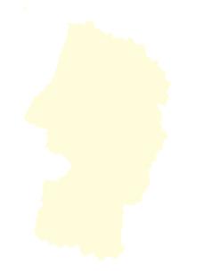 都道府県ポリゴン地図EPS山形県(境界無)のイラスト素材 [FYI03119533]