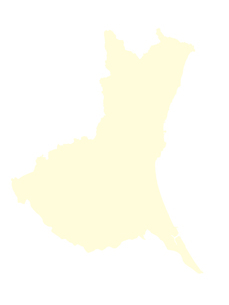 都道府県ポリゴン地図EPS茨城県(境界無)のイラスト素材 [FYI03119534]