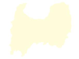 都道府県ポリゴン地図EPS富山県(境界無)のイラスト素材 [FYI03119535]