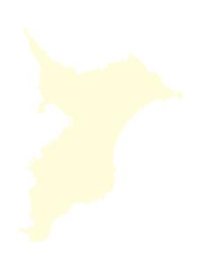都道府県ポリゴン地図EPS千葉県(境界無)のイラスト素材 [FYI03119536]
