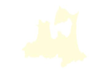都道府県ポリゴン地図EPS青森県(境界無)のイラスト素材 [FYI03119539]