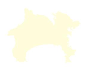 都道府県ポリゴン地図EPS神奈川県(境界無)のイラスト素材 [FYI03119542]