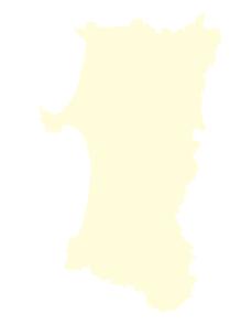 都道府県ポリゴン地図EPS秋田県(境界無)のイラスト素材 [FYI03119544]