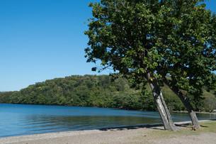 青い静かな湖の写真素材 [FYI03119732]
