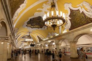 モスクワ地下鉄駅の写真素材 [FYI03119923]