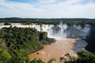 世界最大イグアスの滝(ブラジル側)の写真素材 [FYI03120022]