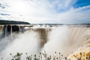「悪魔の喉笛」イグアスの滝の写真素材 [FYI03120035]