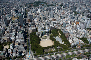 空撮 名古屋市 科学館の写真素材 [FYI03120082]