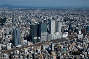 空撮 名古屋駅より 東山公園方面の写真素材 [FYI03120090]