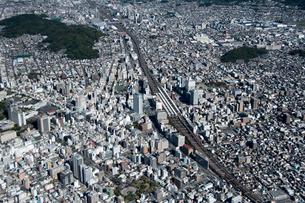 空撮 静岡駅の写真素材 [FYI03120216]