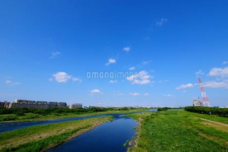 多摩川中流域の風景の写真素材 [FYI03120363]