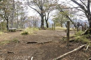 檜洞丸の山頂の写真素材 [FYI03120403]