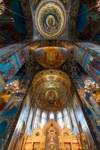 血の上の教会 内部の写真素材 [FYI03120925]