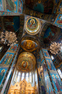 血の上の教会 内部の写真素材 [FYI03120926]