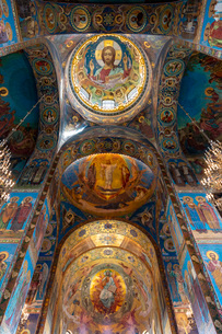 血の上の教会 内部の写真素材 [FYI03120928]