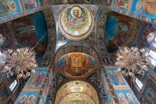血の上の教会 内部の写真素材 [FYI03120934]